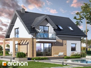 Projekt domu ARCHON+ Dom v zelenci 14