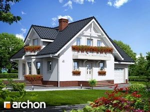 Projekt domu ARCHON+ Dom medzi rododendronmi 5 (P) ver.2