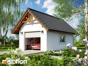 Projekt domu ARCHON+ Garáž pre jedno auto G5