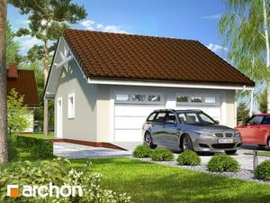Projekt domu ARCHON+ Garáž pre dve autá G9