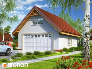Projekt domu ARCHON+ Garáž pre dve autá G6a