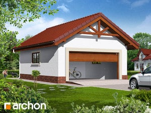 Projekt domu ARCHON+ Garáž pre dve autá G6b
