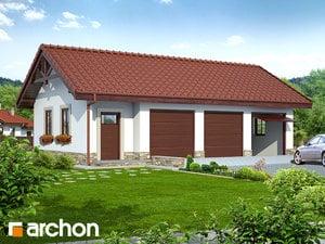 Projekt domu ARCHON+ Garáž pre tri autá G8a