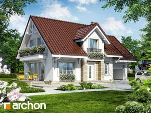 Projekt domu ARCHON+ Dom v lantane ver.2
