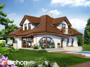 Projekt domu ARCHON+ Dom v zefirante ver.2
