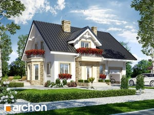 Projekt domu ARCHON+ Dom medzi rododendronmi 14 ver.2