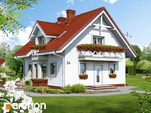 Projekt domu ARCHON+ Dom medzi rododendronmi (P) ver.2