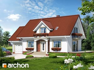 Projekt domu ARCHON+ Dom uprostred železníkov 7 ver.2