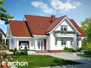 Projekt domu ARCHON+ Dom v lobelkách ver.2