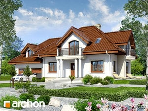 Projekt domu ARCHON+ Dom uprostred železníkov 6 (G2) ver.2