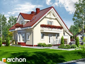 Projekt domu ARCHON+ Dom medzi rododendronmi 4 ver.2
